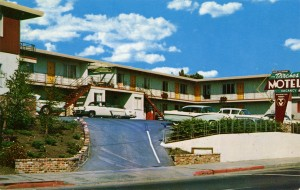 Birches Motel, 10,000 MacArthur Blvd., at 100th Ave., Oakland, California